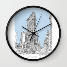 The Flat Iron Wall Clock
