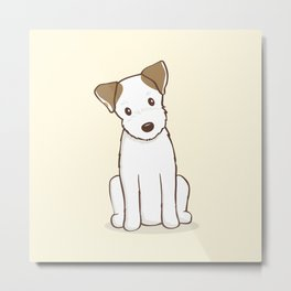 Custom Art Abby the JRT Illustration Metal Print