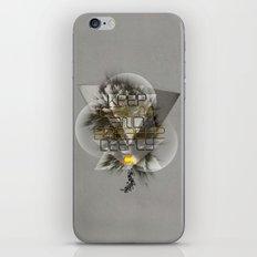 Keep calm and breathe deeply iPhone & iPod Skin