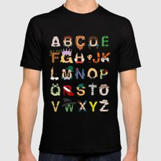 Oz-abet (an Oz Alphabet) Mens Fitted Tee X-LARGE Black