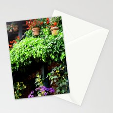 Floating Green Stationery Cards