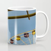 santa monica Mugs featuring Santa Monica pier 3 by Umbrella Design