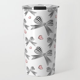 Pink bow heart Travel Mug