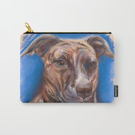 Brindle Pit Bull Portrait Carry-All Pouch