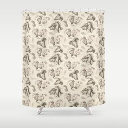 CRAZY HORSES Shower Curtain