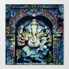 Boho Ganesha and Krishna Canvas Print