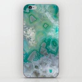 Teal Quartz Geode iPhone Skin