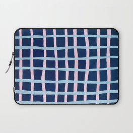 Pink and Blue Grid Laptop Sleeve