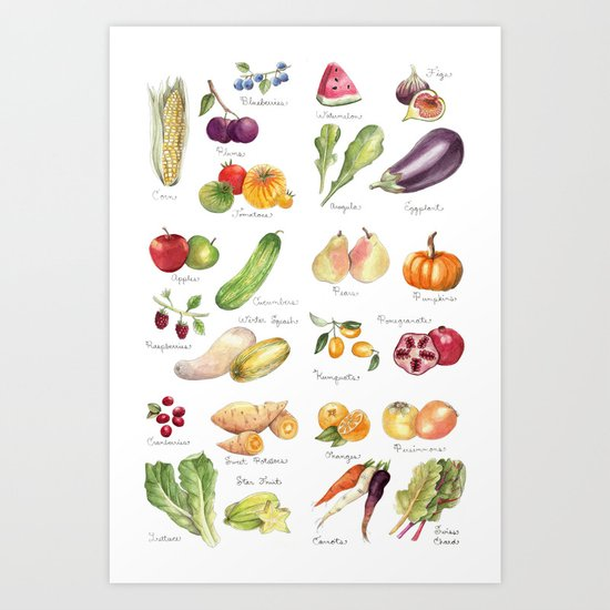 Calendar July-Dec Art Print