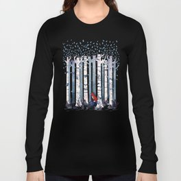 The Birches (in Blue) Long Sleeve T-shirt