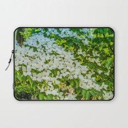White Trillium grandiflorum Laptop Sleeve