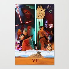The Force Awakens Poster 2 Canvas Print
