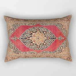 Tabriz  Antique West Persian Azerbaijan Carpet Rectangular Pillow