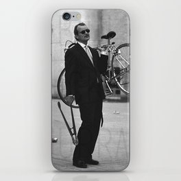 Bill F Murray stealing a bike. Rushmore production photo. iPhone Skin