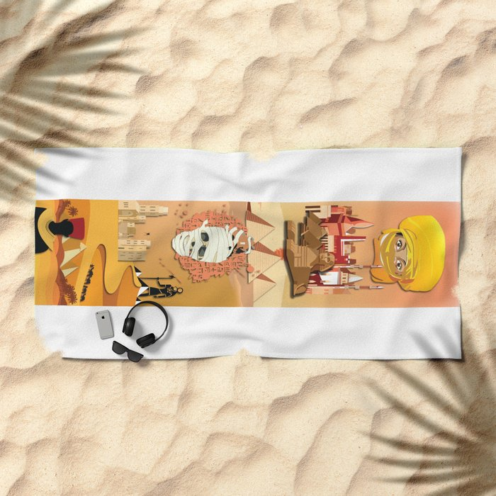 An Egyptian Story Beach Towel
