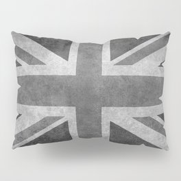 Union Jack Vintage 3:5 Version in grayscale Pillow Sham