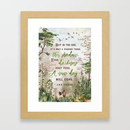 But in the end Framed Art Print