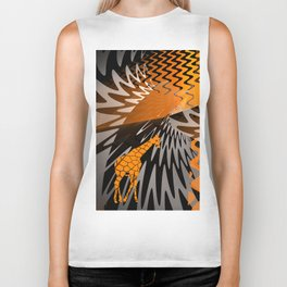 bstract waves and Zebra Biker Tank