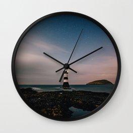 Evening Lighthouse Wall Clock