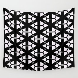 Multi Pattern Black and White Design Wall Tapestry