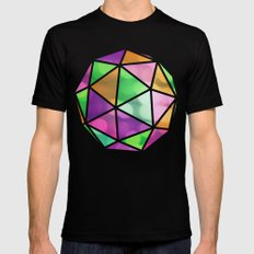 vivid dodecahedron Black Mens Fitted Tee MEDIUM