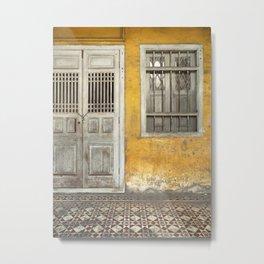 Old Doors in Georgetown, Penang Metal Print