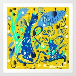 Photocatalysis and POW!(d)erPlants Art Print