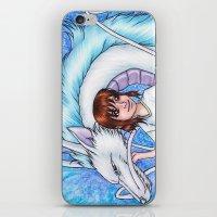 chihiro iPhone & iPod Skins featuring Spirited Away Chihiro and Haku by Kimberly Castello