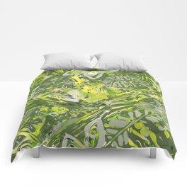 Hawaiian Green Forest Comforters