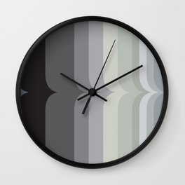 Vintage Black and White Rainbow Wall Clock
