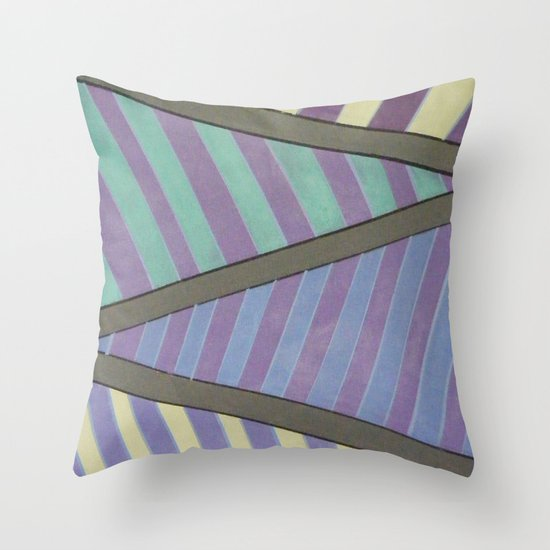 Zig Zag run Throw Pillow