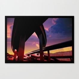 Sci-Fi Freeway Canvas Print