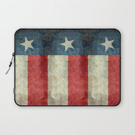 Texas flag, Retro style Vertical Banner Laptop Sleeve