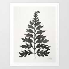 Black Fern Art Print
