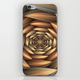 Fractal Buds Tunnel iPhone Skin