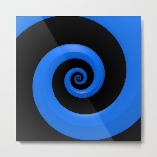 Curl, Blue Metal Print