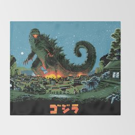 Godzilla - Blue Edition Throw Blanket