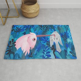 Accident in the enchanted forest Rug