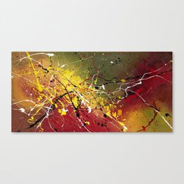 INNERGLOW - Abstract painting design, colorful splash art, Large canvas art Canvas Print