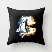 legend of korra Throw Pillows featuring THE LEGEND OF KORRA by Beka