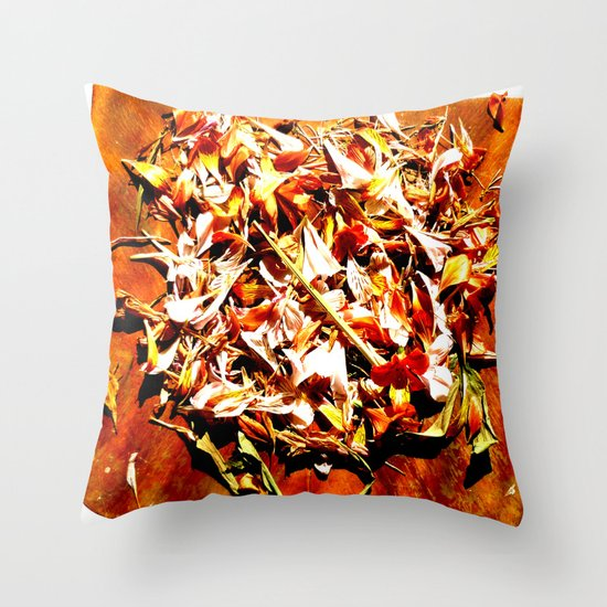 Flowers on a table 2 Throw Pillow
