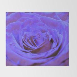 Purple Blue Rose Throw Blanket