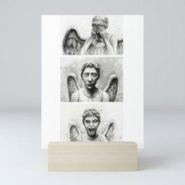 Crying Angels Pattern Mini Art Print
