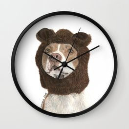 Dressed up dog Wall Clock