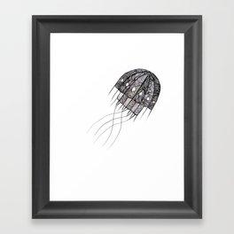 pattern jellyfish Framed Art Print