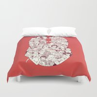 skyrim Duvet Covers featuring Adulthood - Mashup by Samantha Morello (Tilds)