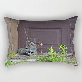 A Ghostly Silence Rectangular Pillow