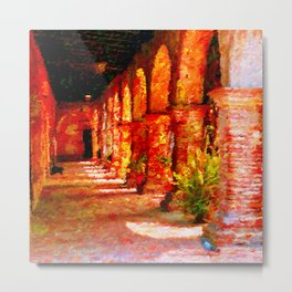 Mission San Juan Capistrano California Abstract Metal Print