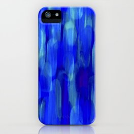Abstract Layered Brush Texture Lapis Color Blue Shade iPhone Case