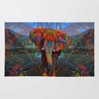 elephant Area & Throw Rugs featuring Elephant by Waelad Akadan